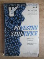 Anticariat: Ion Ionescu - Povestiri stiintifice (volumul 1, 1941)