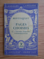 Anticariat: Montesquieu - Pages choisies (1937)