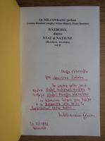 Milcoveanu Serban - Razboiul dintre stat si natiune (2 volumne, cu autograful autorului)