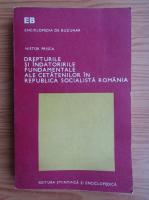 Nistor Prisca - Drepturile si indatoririle fundamentale ale cetatenilor in Republica Socialista Romania