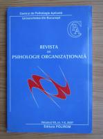 Anticariat: Revista de psihologie organizationala, volumul VII, nr. 1-2, anul 2007