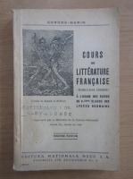Gorgos Marin - Cours de litterature francaise (1946)