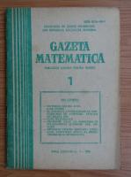 Anticariat: Gazeta Matematica, anul LXXXVIII, nr. 1, ianuarie 1983