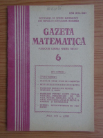 Anticariat: Gazeta Matematica, anul XCII, nr. 6, iunie 1987