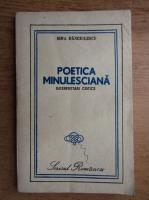 Sina Danciulescu - Poetica minulesciana