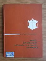 Anticariat: Boris David, Mihai Olteneanu - Analize de laborator utilizate in practica geologica