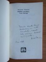 Antoaneta Tanasescu - Destin teatral.  Aurel Baranga (cu autorgraful autorului)