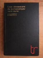 V. Koudriavtsev, B. Demidovitch - Cours elementaire de mathematiques superieures