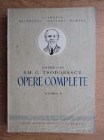 Em. C. Teodorescu - Opere complete (volumul 2)