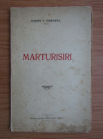 Henry V. Gabunea - Marturisiri (1929)
