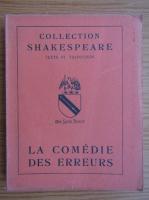 Anticariat: William Shakespeare - Le comedie des erreurs (1949)