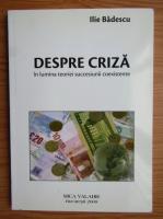 Ilie Badescu - Despre criza in lumina teoriei succesiunii coexistente
