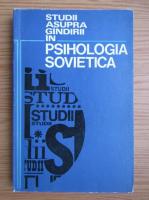 Anticariat: Studii asupra gandirii in psihologia sovietica