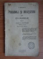 Simion Mehedinti - Parabole si invataturi din evanghelie pentru clasa a II-a secundara (1929)