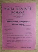 C. Radulescu-Motru - Noua Revista Romana. Sociala, critica, stiintifica si literara, vol. XVIII, nr. 4, 3-10 aprilie 1916