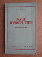 V. I. Litvinenko - Bazele termoenergeticei