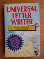 Anticariat: Andrew Elliot - Universal letter writer