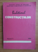 Anticariat: Buletinul constructiilor (volumul 5, 1986)