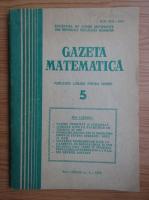 Anticariat: Gazeta Matematica, anul LXXXIV, nr. 5, 1979
