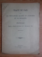 Traite de paix entre les puissances alliees et associees et la Bulgarie, et protocole (1920)
