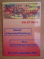 Anticariat: Revista de psihoterapie experientiala, nr. 3, septembrie 2009