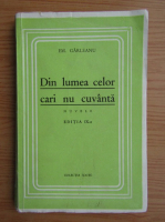 Anticariat: Emil Garleanu - Din lumea celor cari nu cuvanta (1930)