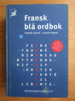 Anticariat: Fransk bla ordbok. Fransk-norsk, norsk-fransk
