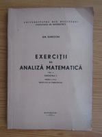Gheorghe Siretchi - Exercitii de analiza matematica (volumul 1)