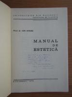 Anticariat: Ioan Ianosi - Manual de estetica (cu autograful autorului)