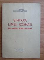 N. I. Barbu - Sintaxa limbii romane dupa metoda istorico-stilistica