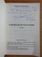 Scarlat Niculescu - O-mparatie de vis si poezie (cu autograful autorului)
