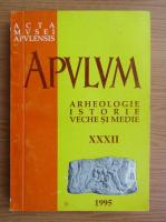 Anticariat: Nicolae Josan - Apvlm, arheologie-istorie veche si medie (volumul 32)