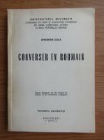 Anticariat: Gheorghe Doca - Converser en roumain