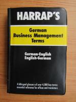 Anticariat: Harrap's german business management terms