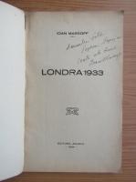 Ioan Massoff - Londra (cu autograful autorului, 1933)