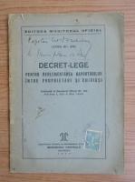 Anticariat: Decret-lege, nr. 103, mai, 1946
