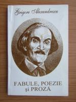 Anticariat: Grigore Alexandrescu - Fabule, poezie si proza