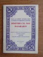 Viata, acatistul si paraclisul cuviosului parintelui nostru Dimitrie cel Nou Basarabov