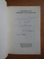 Alexandru Baciu - Scrisoare de recomandare si alte schite anacronice (cu autograful si dedicatia autorului pentru Balogh Jozsef)