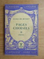 Alfred de Musset - Pages choisies (volumul 2, 1934)