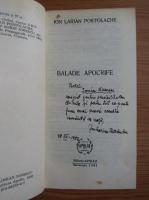 Anticariat: Ion Larian Postolache - Balade. Apocrife (cu autograful autorului)