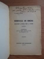 Anticariat: P. Garboviceanu - Minoritatile din Romania (1928, cu autograful autorului)