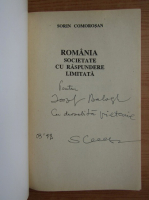 Anticariat: Sorin Comorosan - Romania, societate cu cu raspundere limitata (cu autograful autorului)