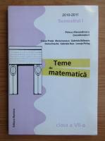 Anticariat: Petrus Alexandrescu - Teme de matematica, clasa a VII-a, 2010