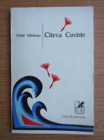 Victor Sahleanu - Cateva cuvinte