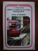 Anticariat: Garabet Ibraileanu - Spiritul critic in cultura romaneasca. Note si impresii