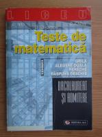 Constantin Nita - Teste de matematica. Grila, alegere duala, pereche, raspuns deschis