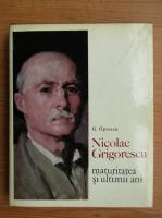 Anticariat: G. Oprescu - Nicolae Grigorescu, maturitatea si ultimii ani