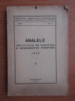 Anticariat: Analele institutului de cercetari si experimentatie forestiera (1939)