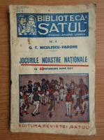 Anticariat: G.T. Niculescu Varone - Jocurile noastre nationale, cu 42 fotografii dupa text (1937)